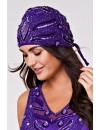 Gatsby 1920s Purple Beaded Evening Dress