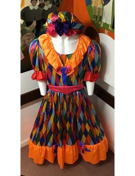 Panto Dame Harlequin Costume