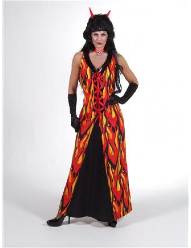 Devil Flame Dress Large