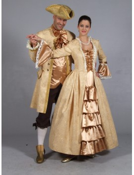 Georgian Gent Mens Costume Gold CR9A