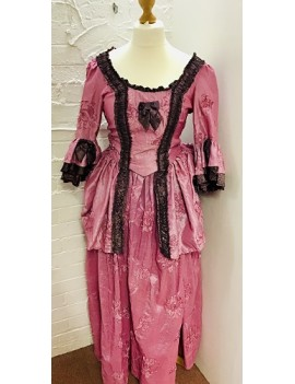 Georgian Lady Rose Pink Coffee Taffeta