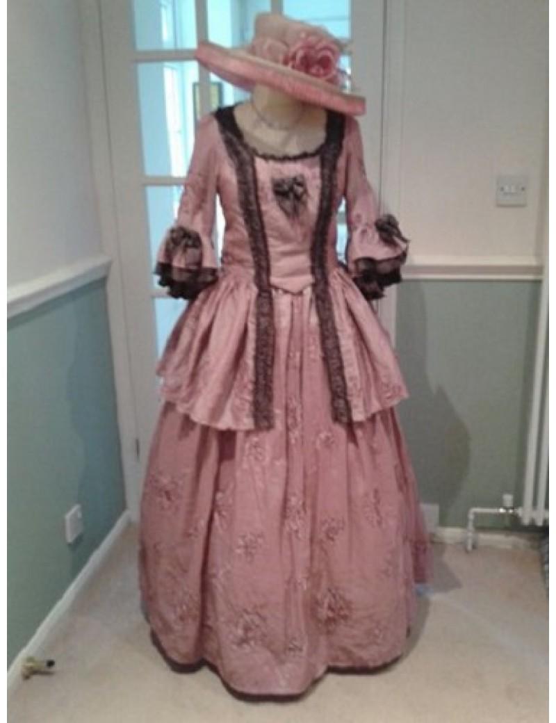 Georgian Lady Rose Pink Taffeta