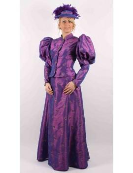 Victorian Lady Purple Taffeta
