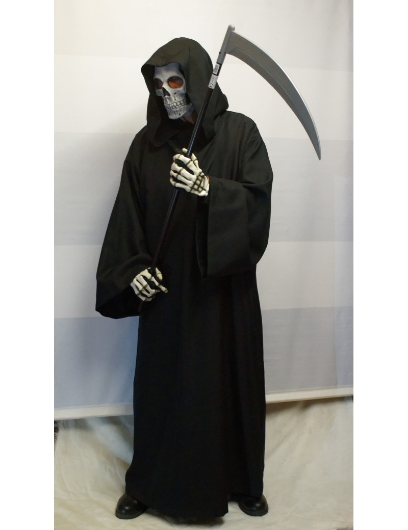 Death Grim Reaper Adult Hire Costume Make Believe S2