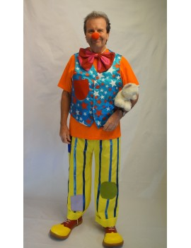 Mr Tumbler Hire Adult Clown Costume CI16