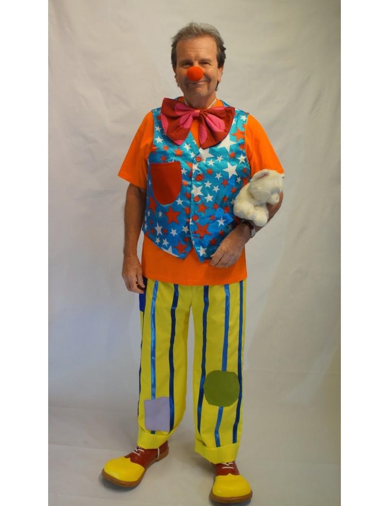 Mr Tumbler Hire Adult Clown Costume CI16
