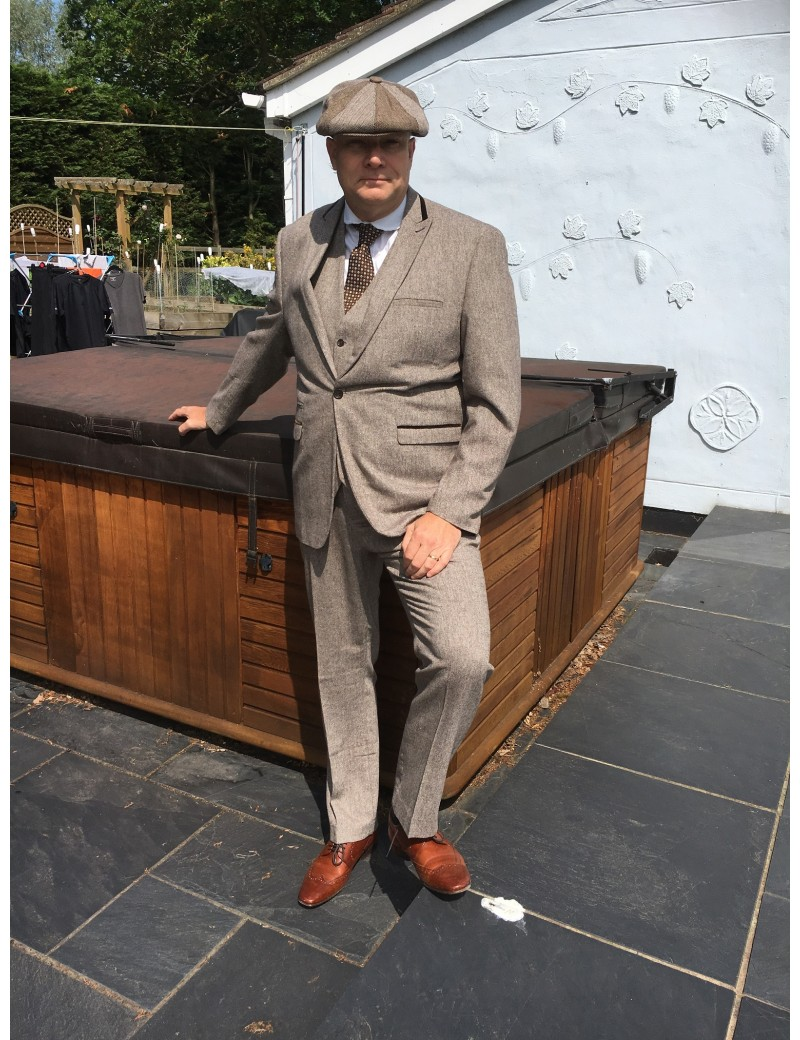 1920s Peaky Blinders suit hire Marc Darcy XL