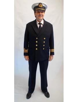 British Royal Navy Commander Officer Adult Uniform Hire Costume FY9