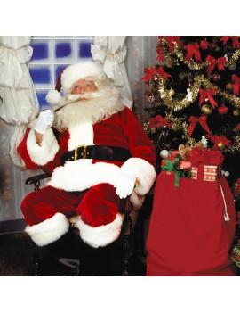 Santa Claus Deluxe Imperial Crimson Costume Rubies FP10