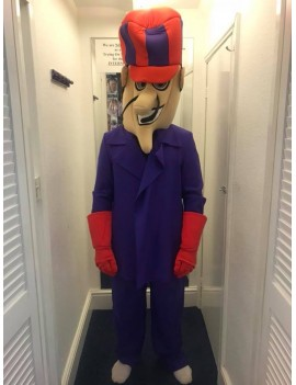 Wacky Races Dick Dastardly Mascot Costume