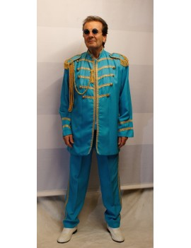 1960s The Beatles Sgt Pepper style Blue suit mens Paul McCartney fancy dress party costume DB16