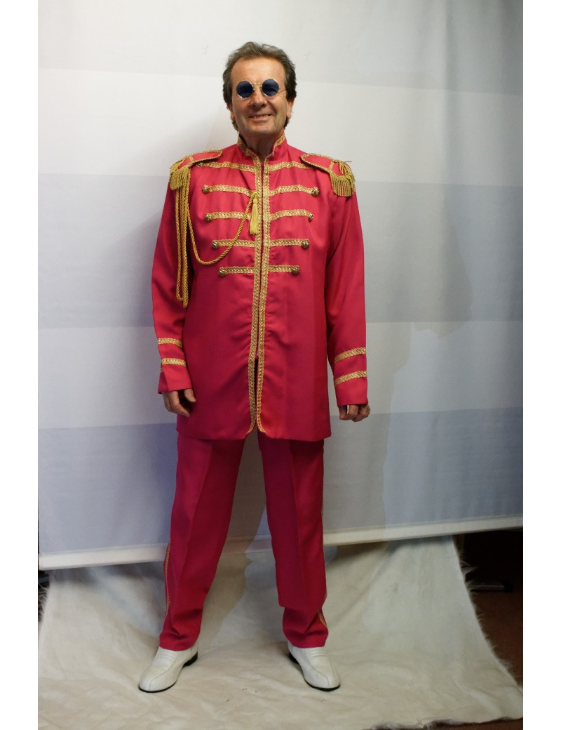1960s The Beatles Sgt Pepper style Pink suit mens Ringo Starr fancy dress party costume DB18