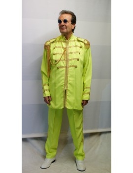1960s The Beatles Sgt Pepper style Yellow suit mens John Lennon fancy dress party costume DB15