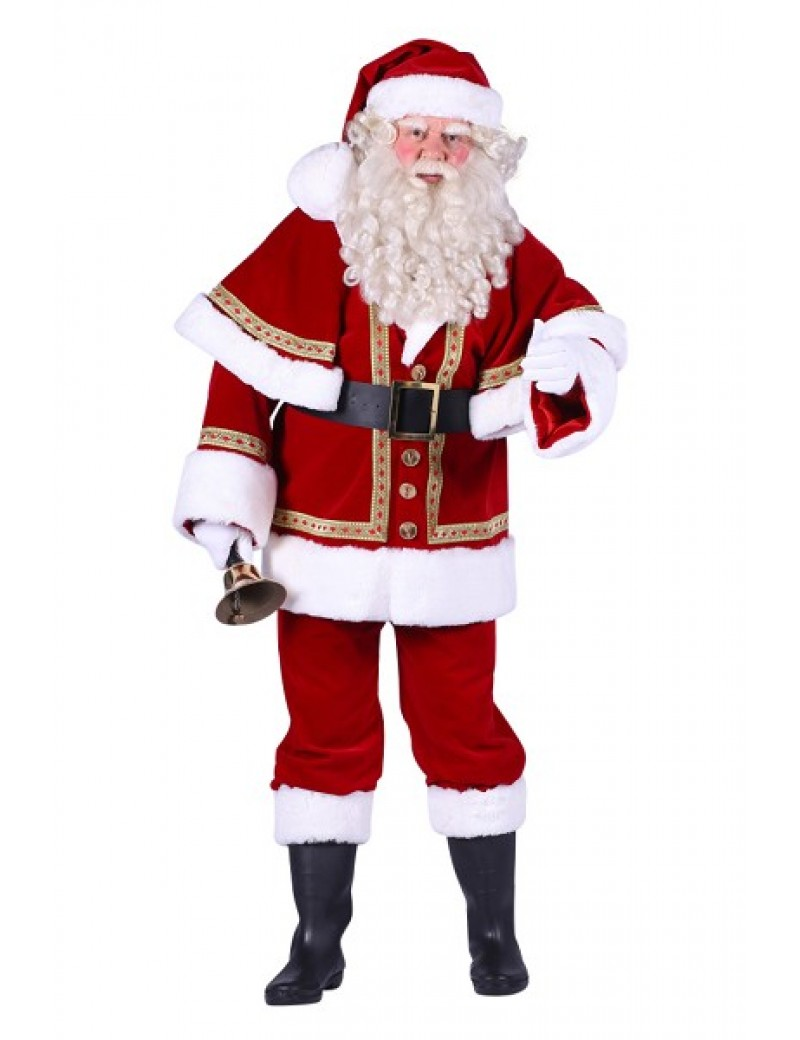 Santa Claus Crimson Superior Costume Large Thetru