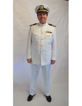 An Officer And A Gentlemen USN Naval Whites Adult Uniform Hire Costume