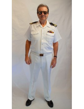 Top Gun Maverick US Naval Whites Adult Uniform Hire Costume