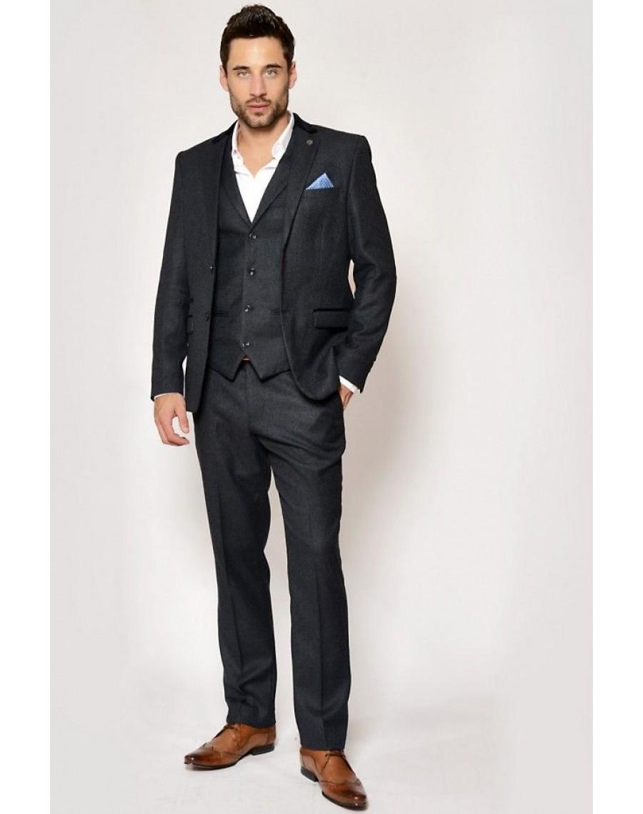 suit tweed 3 piece navy blue hire peaky blinders mens costume. Black Bedroom Furniture Sets. Home Design Ideas