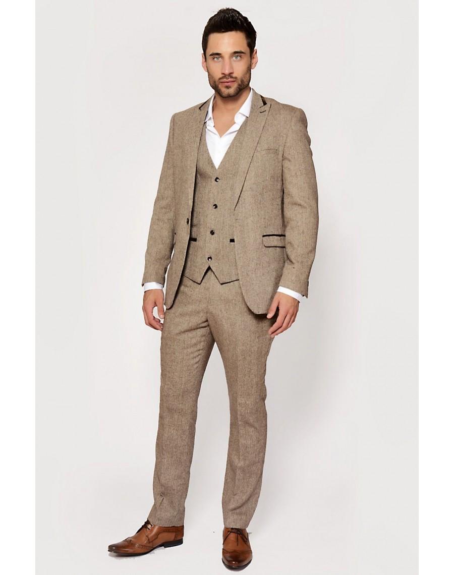 suit tweed brown 3 piece check hire costume peaky blinders. Black Bedroom Furniture Sets. Home Design Ideas