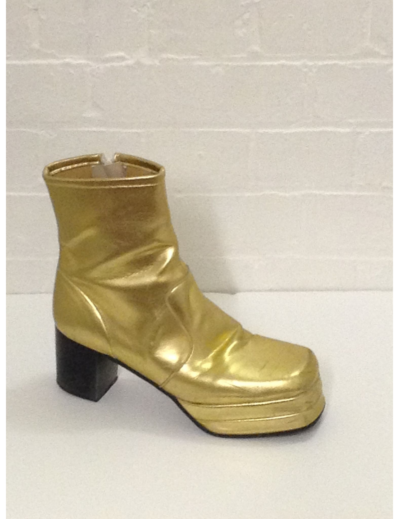1970s Platform Gold Ankle Boots Fantasy Shoes Lenny 8