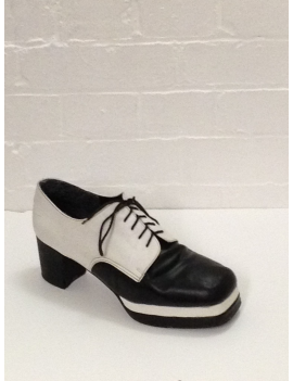 1970s Black White Platform Shoes Fantasy Shoes Luke UK 11