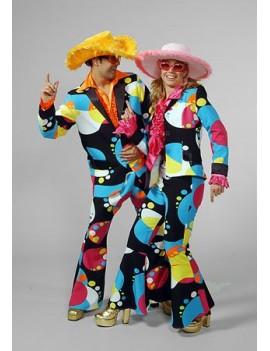 1970s Liquid Bubble Flared Suit Womans Costume Freddys AJ19