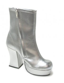 1970s Silver Platform Boots Lisa Cloud Fantasy Shoes 7