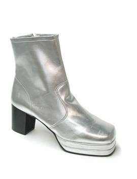 1970s Silver Platform Boots Fantasy Shoes Lenny 8