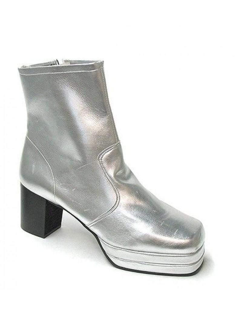 1970s Silver Platform Boots Fantasy Shoes Lenny 8