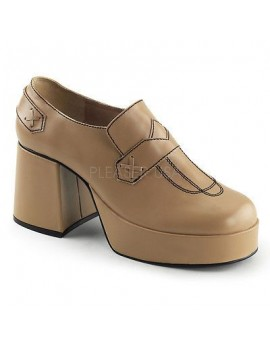 1970s Tan Brown Platform Shoes Jazz 01