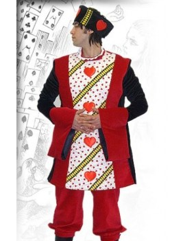 Alice In Wonderland King Of Hearts tv film character hire deluxe rental costume BX8