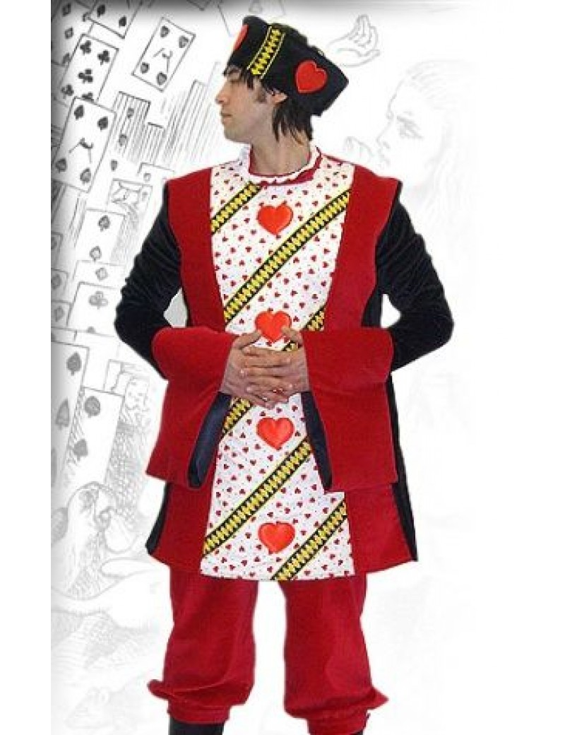 Alice In Wonderland King Of Hearts Hire Costume BX8
