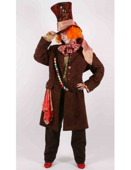 Alice In Wonderland Mad Hatter tv film character hire deluxe rental costume Mardi Gras BX5A
