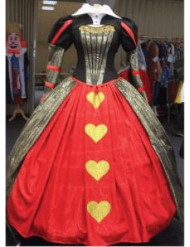 Alice In Wonderland Red Queen Of Hearts Hire Adult Costume Make Believe CG14A