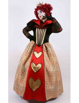 Alice In Wonderland Red Queen Of Hearts Hire Adult Costume Mardi Gras CG14