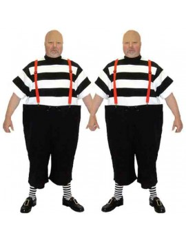 Alice In Wonderland Tweedle Dee Tweedle Dum Adult Costume BX9 BX10