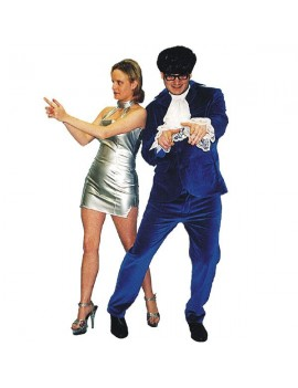 Austin Powers Blue suit mens tv film 60s 90s fancy dress party costume Make Believe EW4 EW5A