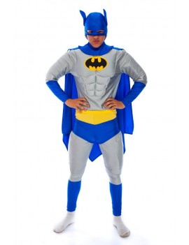 Batman Del Boy  style  mens 90s  tv Superhero padded hire rental costume Make Believe DC 7