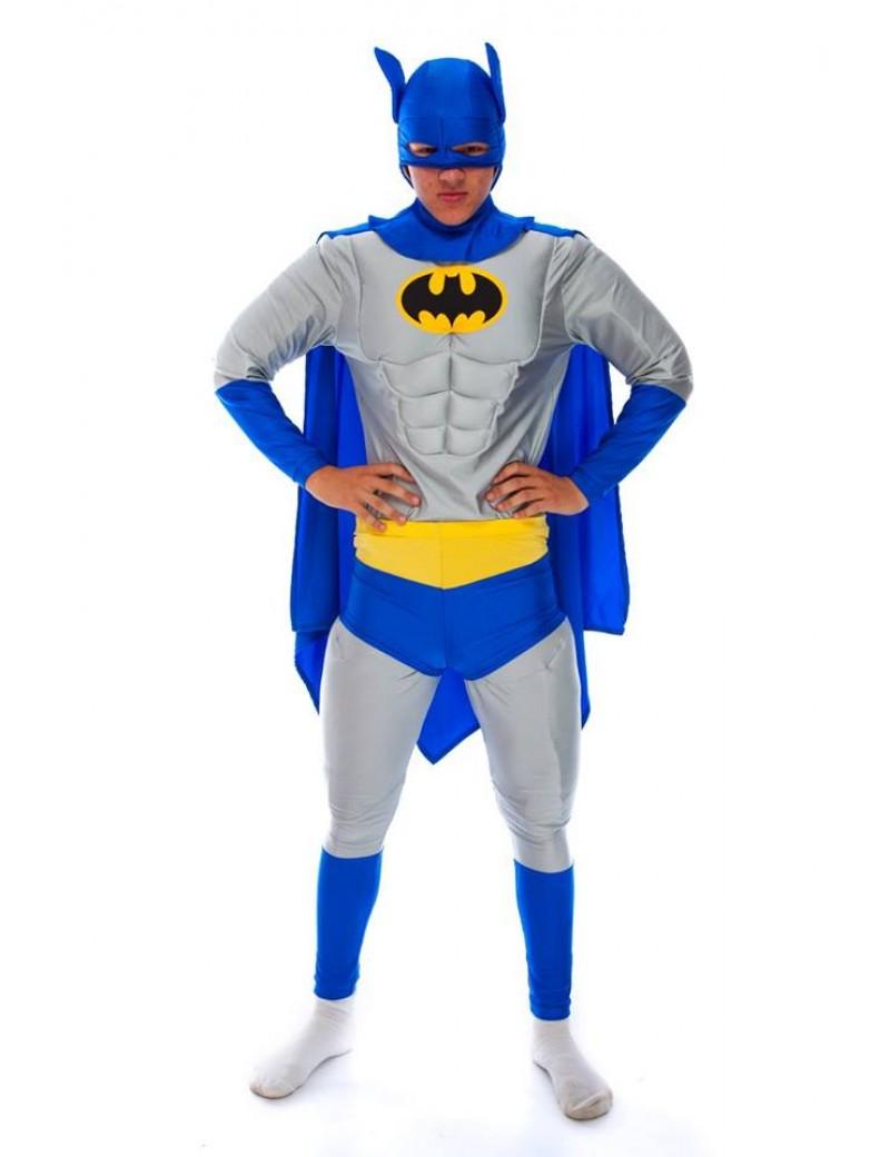 Batman Del Boy  style  mens 90s  tv Superhero padded hire rental costume Make Believe DC 7