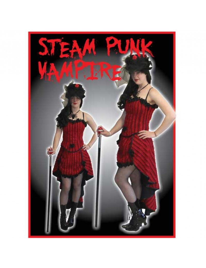 Steampunk Vampiress Halloween Hire Costume Make Believe
