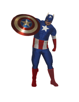 Captain America Superhero Costume Make Believe DC22A
