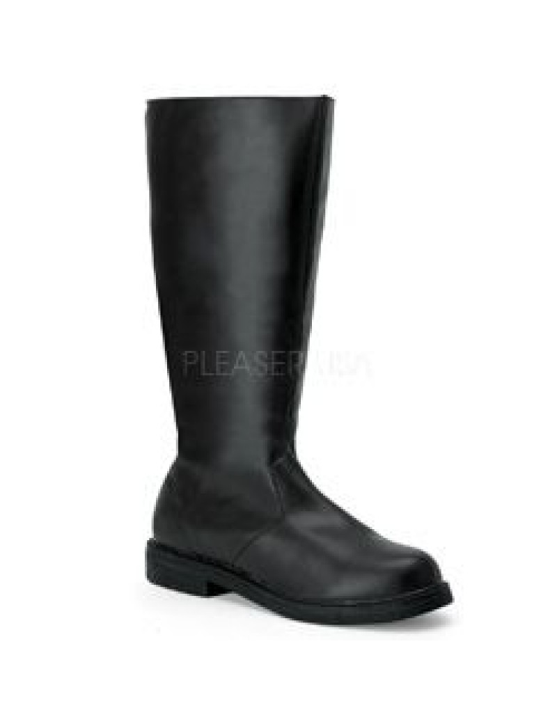 Character Black Long Boots Pleaser Captain -100