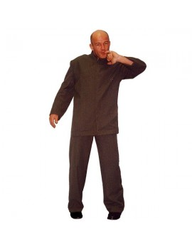 Dr Evil dark grey suit mens tv film 60s  90s fancy dress party costume Make Believe BW18