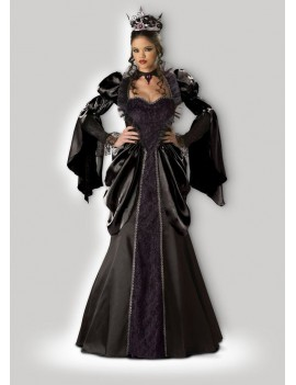 Evil Wicked Queen womans fancy dress Halloween villain hire costume In Character Q27
