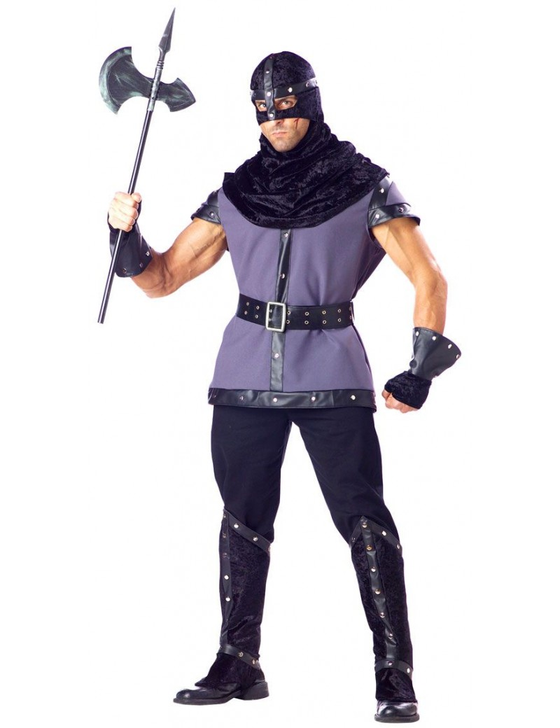 Executioner Mens Medieval Tudor fancy dress Halloween villain hire rental costume In Character