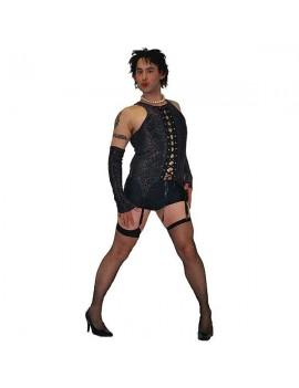 Frank N Furter mens tv 70s  film Rocky Horror musical fancy dress party costume Make Believe BZ3A