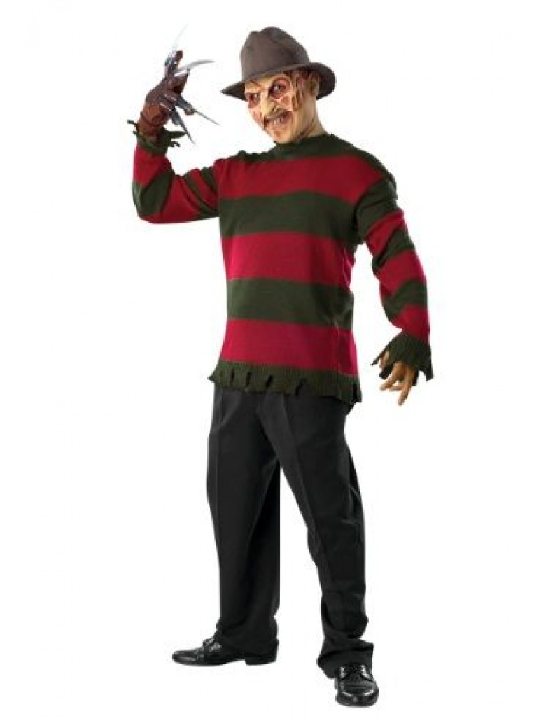Freddy Krueger Nightmare On Elm Street mens Halloween fancy dress tv film 80s hire rental costume Rubies BZ12A BZ14
