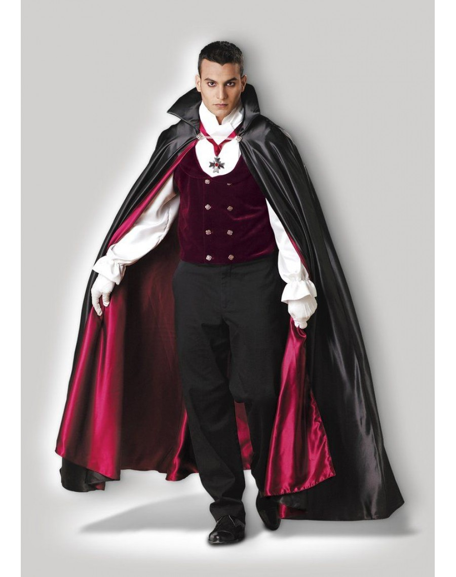 98417246f32 Costume-Vampire-The-Count-Dracula-Hire-Halloween-Rent-Mens-Fancy-Dress