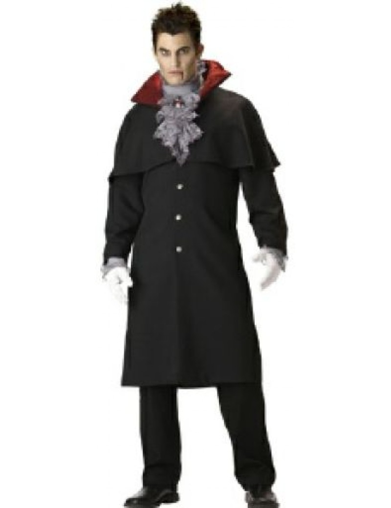Gothic Victorian Vampire Mens fancy dress Halloween villain hire costume In Character T21
