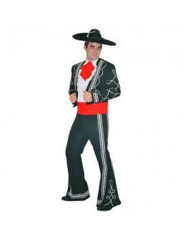 Mexican Mariachi 3 Amigos Day Of The Dead Deluxe mens hire rental costume Make Believe DM10 A/B/C