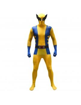 Morphsuit Wolverine Marvel superhero mens fancy dress tv film comic book costume party Morph suit MLWOV
